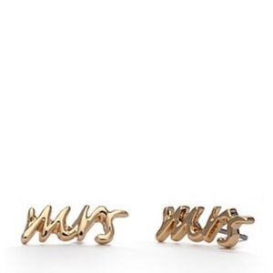 Kate Spade New York Gold Mrs. Stud Earrings
